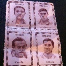 Cromos de Fútbol: LOTE CROMOS FOTO SELLO FUTBOL 1940 1941 GRANADA MILLAN ALEJANDRO CONDE NICOLA. Lote 32101180