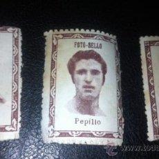 Cromos de Fútbol: LOTE CROMOS FOTO SELLO FUTBOL 1940 1941 SEVILLA JOAQUIN PEPILLO CAMPOS. Lote 32117287