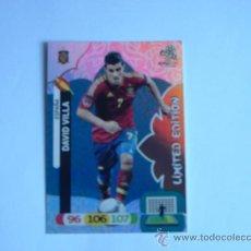 Cromos de Fútbol: CROMO ADRENALYN XL EURO 2012 DAVID VILLA LIMITED EDITION. Lote 32369084