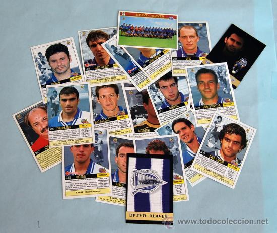 MUNDICROMO - LIGA 1999 - 2000 - 23 CROMOS DEL EQUIPO DEPORTIVO ALAVÉS (Coleccionismo Deportivo - Álbumes y Cromos de Deportes - Cromos de Fútbol)