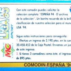 Cromos de Fútbol: MUNDICROMO BONO 1995 COMODIN ESPAÑA 94. Lote 32499309