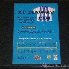 Cromos de Fútbol: MUNDICROMO 2000 - 91 ESCUDO - R.C.DEPORTIVO CORUÑA. MC 99/00 ( ) . Lote 53691947