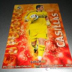 Cromos de Fútbol - 23 IKER CASILLAS SUPERSTAR MATE REAL MADRID CROMOS MUNDICROMO QUIZ GAME LIGA 2012 2013 12 13 - 164575190