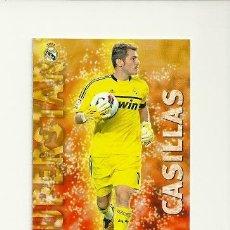 Cromos de Fútbol - 23 CASILLAS (REAL MADRID) SUPERSTAR MATE - MUNDICROMO 2012 2013 LIGA QUIZ GAME 12 13 - 32712689