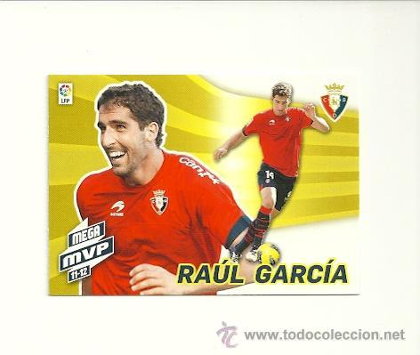 435 RAUL GARCIA (OSASUNA) MVP 11-12 - MEGACRACKS 2012-2013 PANINI MGK 12-13 - CROMOS (Coleccionismo Deportivo - Álbumes y Cromos de Deportes - Cromos de Fútbol)