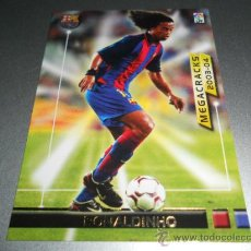 Cromos de Fútbol: FICHAJE 374 BIS RONALDINHO F.C. BARCELONA CROMOS MEGAFICHAS MEGACRACKS LIGA 2003 2004 03 04. Lote 40057140