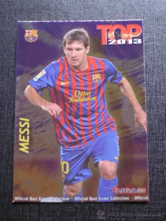 MUNDICROMO 2012 2013 12 13 QUIZ GAME TOP 7 - MESSI - Nº 0595 - FONDO BRILLO LISO MORADO (Coleccionismo Deportivo - Álbumes y Cromos de Deportes - Cromos de Fútbol)