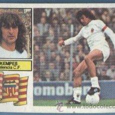 Cromos de Fútbol: KEMPES - VALENCIA - FICHAJE 10 LIGA 82 83 - EDICIONES ESTE. Lote 34019273