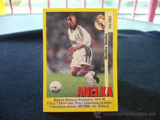 Nicolas Anelka Real Madrid CF #202 Panini Liga de Campeones 1999-2000
