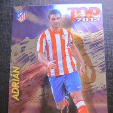Cromos de Fútbol: MUNDICROMO 2012 2013 QUIZ GAME 12 13 - TOP 7 - ADRIÁN - Nº 0597 - FONDO BRILLO LISO MORADO. Lote 33254566