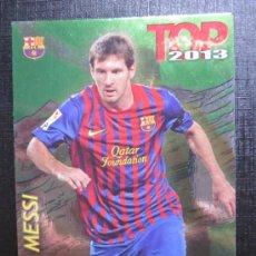 Cromos de Fútbol: MUNDICROMO 2012 2013 12 13 QUIZ GAME TOP 7 - MESSI - Nº 0595 - FONDO BRILLO LISO VERDE. Lote 33302739