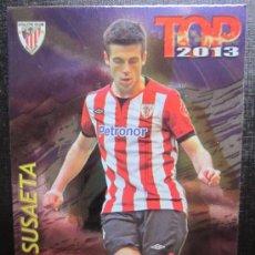 Cromos de Fútbol: MUNDICROMO 2012 2013 12 13 QUIZ GAME TOP 7 - SUSAETA - Nº 0600 - FONDO BRILLO LISO MORADO. Lote 33533253