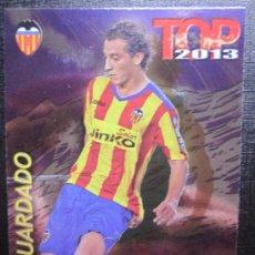 Cromos de Fútbol: MUNDICROMO 2012 2013 12 13 QUIZ GAME TOP 7 - GUARDADO - Nº 0603 - FONDO BRILLO LISO MORADO. Lote 33305795