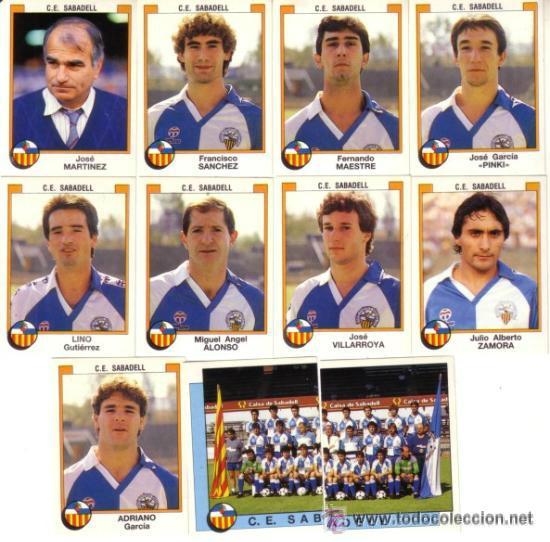 FÚTBOL 88 PANINI – 285 ADRIANO - C.D. SABADELL – RSS (Coleccionismo Deportivo - Álbumes y Cromos de Deportes - Cromos de Fútbol)