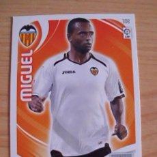 Cromos de Fútbol: . CROMO ADRENALYN PANINI. TEMPORADA 2011-2012 (11-12). MIGUEL (VALENCIA). Lote 33527827