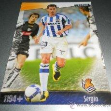 Cromos de Fútbol: FICHAJE UH + 1194 SERGIO REAL SOCIEDAD CROMOS ALBUM MUNDICROMO LIGA FUTBOL 2008 2009 08 09. Lote 144788753