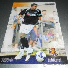 Cromos de Fútbol: FICHAJE UH + 1193 ZUBIKARAI REAL SOCIEDAD CROMOS ALBUM MUNDICROMO LIGA FUTBOL 2008 2009 08 09. Lote 173586107