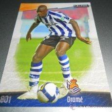 Cromos de Fútbol: 801 DRAME BOUKARY REAL SOCIEDAD CROMOS ALBUM MUNDICROMO LIGA FUTBOL 2008 2009 08 09. Lote 57714791