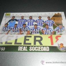 Cromos de Fútbol: 793 ALINEACION INDICE CHECK LIST REAL SOCIEDAD CROMOS ALBUM MUNDICROMO LIGA FUTBOL 2008 2009 08 09. Lote 144791169