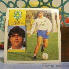 Cromos de Fútbol: EDICIONES ESTE 1992-1993 92 93 FRANCIS (BAJA) TENERIFE SIN PEGAR . Lote 33755806
