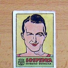 Cromos de Fútbol: FÚTBOL CLUB BARCELONA - SOSPEDRA - CROMOS CULTURA - EDITORIAL BRUGUERA 1941-42. Lote 33938384