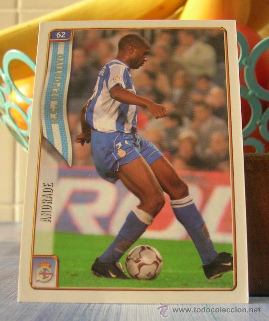 MUNDICROMO FICHAS DE LA LIGA 2004-2005 04 05 Nº 62 ANDRADE (DEPORTIVO) (Coleccionismo Deportivo - Álbumes y Cromos de Deportes - Cromos de Fútbol)