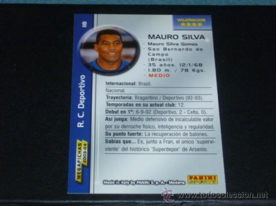 MEGAFICHAS 2003/2004 – 118 MAURO SILVA - R.C. DEPORTIVO - 03/04 ( ) (Coleccionismo Deportivo - Álbumes y Cromos de Deportes - Cromos de Fútbol)