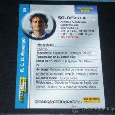 Cromos de Fútbol: MEGAFICHAS 2003/2004 – 132 SOLDEVILLA - RCD. ESPANYOL - 03/04 ( ) . Lote 33972643