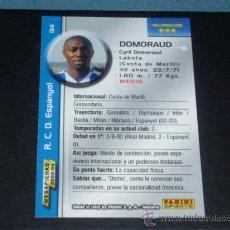 Cromos de Fútbol: MEGAFICHAS 2003/2004 – 134 DOMORAUD - RCD. ESPANYOL - 03/04 ( ) . Lote 33972755