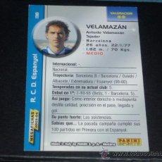 Cromos de Fútbol: MEGAFICHAS 2003/2004 – 138 TONI VELAMAZÁN ( VERSIÓN CORREGIDA ) - RCD. ESPANYOL - 03/04 ( ) . Lote 33972929