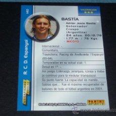 Cromos de Fútbol: MEGAFICHAS 2003/2004 – 140 BASTIA ( VERSIÓN ERROR ) - RCD. ESPANYOL - 03/04 ( ) . Lote 33973174
