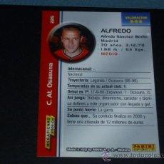 Cromos de Fútbol: MEGAFICHAS 2003/2004 – 225 ALFREDO - AT. OSASUNA - 03/04 ( ) . Lote 34026590