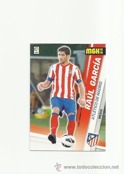 468 RAUL GARCIA (ATLETICO MADRID) FICHAJE - MEGACRACKS 2012-2013 PANINI MGK 12-13 - CROMOS (Coleccionismo Deportivo - Álbumes y Cromos de Deportes - Cromos de Fútbol)