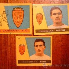 Cromos de Fútbol: REAL ZARAGOZA - 3 CROMOS DIFERENTES NUEVOS - CAMPEONES 1960 BRUGUERA - LISTADO. Lote 34478018