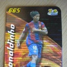 Cromos de Fútbol: 665 RONALDINHO F.C.BARCELONA TOP SECURITY HORIZONTAL INVERTIDO MUNDICROMO 2007 2008. Lote 218324728