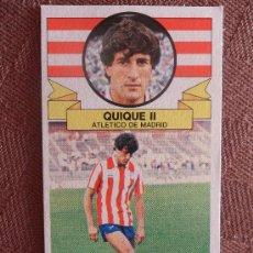 Cromos de Fútbol: CROMO EDICIONES ESTE LIGA 85 86 FICHAJE 18 QUIQUE II AT MADRID NUEVO VER FOTOS NUNCA PEGADO . Lote 34606850