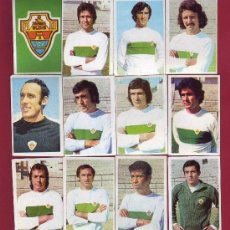 Cromos de Fútbol: RUIROMER - CAMPEONATO NACIONAL DE FUTBOL 1976-1977 - LOTE DE 12 CROMOS ELCHE. Lote 34721408