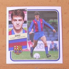 Cromos de Fútbol: FÚTBOL CLUB BARCELONA - SERGI - EDICIONES ESTE 1989-1990, 89-90 - NUNCA PEGADO. Lote 53114545