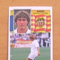 Cromos de Fútbol: VALENCIA - NANDO - EDICIONES ESTE 1990-1991, 90-91 - NUNCA PEGADO. Lote 34950861
