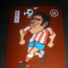 Cromos de Fútbol: CROMO FUTBOL CROPAN - LUIS Nº 46 - AT.MADRID TRANSPARENTE . Lote 35115002