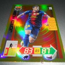 Cromos de Futebol: IDOLO 392 JORDI ALBA F.C. BARCELONA CROMOS ALBUM ADRENALYN XL LIGA FUTBOL 2012 2013 12 13 PANINI. Lote 246755190