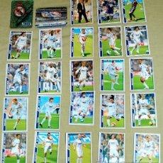 Cromos de Fútbol: 25 CROMOS REAL MADRID C.F. MUNDICROMO (2008) ESCUDO JASPEADO, RAUL, CASILLAS, PEPE.... Lote 35402854