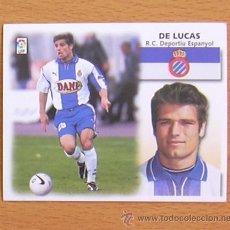 Cromos de Fútbol: R.C.D. ESPAÑOL - DE LUCAS - EDICIONES ESTE 1999-2000, 99-00 - NUNCA PEGADO. Lote 35551850