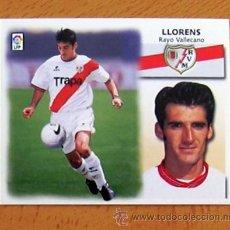 Cromos de Fútbol: RAYO VALLECANO - LLORENS - EDICIONES ESTE 1999-2000, 99-00 - NUNCA PEGADO. Lote 35565557