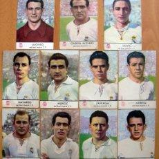 Cromos de Fútbol: REAL MADRID - CASTELLBLANCH, AÑO 1953 - 11 CROMOS, TODOS LOS PUBLICADOS. Lote 35093977