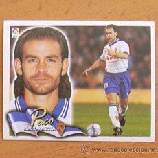Cromos de Fútbol: ZARAGOZA - PACO - EDICIONES ESTE 2000-2001, 00-01 - NUNCA PEGADO. Lote 54701061