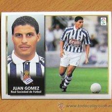 Cromos de Fútbol: REAL SOCIEDAD - JUÁN GÓMEZ - EDICIONES ESTE 1998-1999, 98-99 - NUNCA PEGADO. Lote 35774300