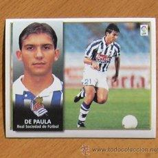 Cromos de Fútbol: REAL SOCIEDAD - DE PAULA - EDICIONES ESTE 1998-1999, 98-99 - NUNCA PEGADO. Lote 35774440