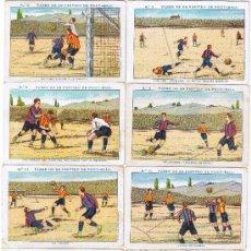 Cromos de Fútbol: LOTE 4 CROMOS - FASES DE PARTIDO DE FOOT-BALL - OPCIÓN VENTA UNIDAD - DESCRIPCIÓN - FOTO ADICIONAL. Lote 56240196