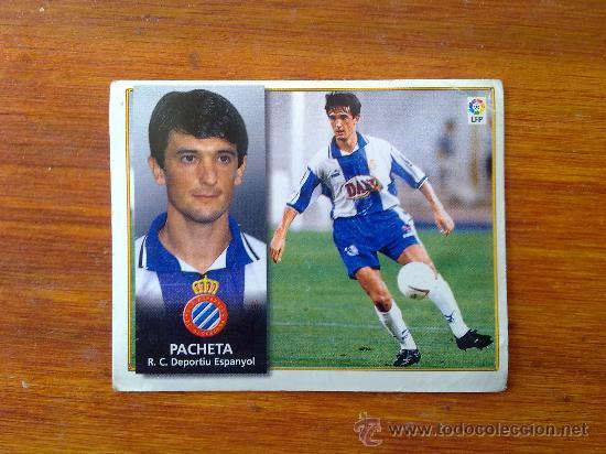 PACHETA, ESPANYOL, LIGA 98 99 ESTE 1998 1999 (Coleccionismo Deportivo - Álbumes y Cromos de Deportes - Cromos de Fútbol)